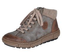 Sneaker mit Fleece-Fütterung braun / grau