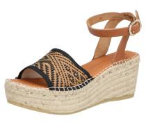 Sandalette 'naya42' schwarz / braun
