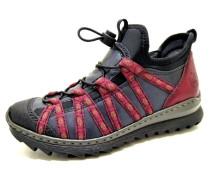 Sneaker marine / feuerrot