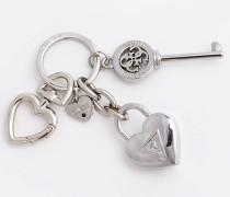 Schlüsselanhänger 'Charm Herz' silber