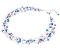 Kette blau / hellblau / pink
