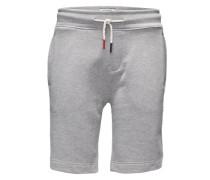 Shorts aus meliertem Sweat hellgrau