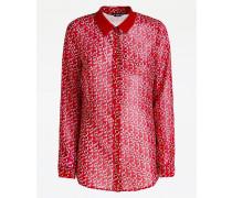 Bluse rot / weiß