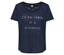 T-Shirt 'TS Prosecco' navy / weiß
