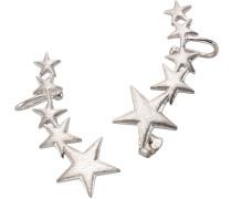 Ohrstecker mit Uhrklemme 'Ear Cuffs Sterne'