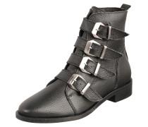 Ankle Boots 'Stories' aus Leder schwarz