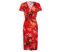 Kleid mischfarben / feuerrot
