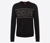 Sweatshirt 'Dicago' schwarz / weiß