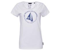 T-Shirt 'St. Barth' dunkelblau / weiß