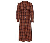 Kleid 'Kenya' rostbraun / schwarz