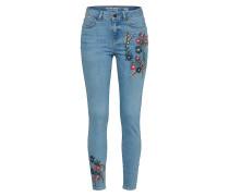 Jeans 'ankle Flower Print' blue denim