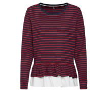 Langarmshirt 'onlFRIDA' rot / weiß