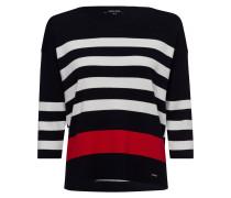 Streifenpullover marine / rot / weiß