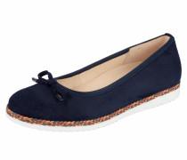 Comfort Ballerina kobaltblau / weiß