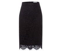 Rock 'Lace' Pencil-Skirt schwarz