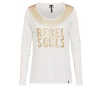 Urbanes Sweatshirt gold / weiß