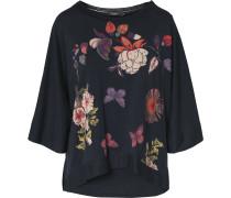 Oversized-Shirt nachtblau / mischfarben
