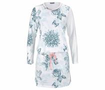 Sleepdress mit feinem Blumenmuster weiß