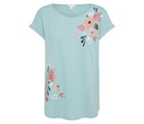 T-Shirt hellblau / altrosa / feuerrot