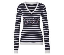 Pullover 'veronica' blau / weiß