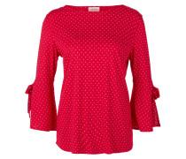 Tupfenshirt mit Trompetenärmeln rot Triangle by s.Oliver L2zfw