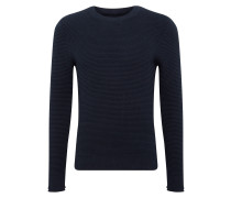 Pullover 'CN Knop Structur' navy