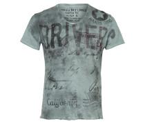 T-Shirt 'Driving' opal / schwarz