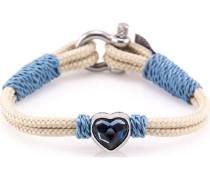 Armband beige / blau