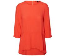 Bluse mit 3/4 Ärmeln orangerot
