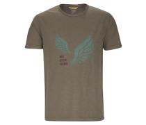 T-Shirt jade / grasgrün / burgunder