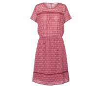 Kleid 'Crinkle T-Cotton' rot