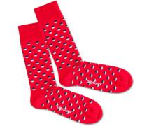 Socken 'Red Boccia Field'