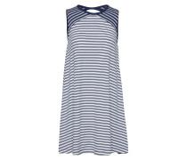 Kleid navy / weiß