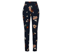 Hose 'Floral Cigarette Trousers'