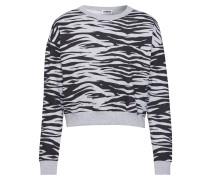 Sweatshirt 'Ladies AOP Short Tiger Crew'