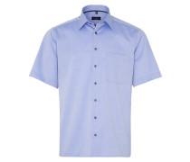 Kurzarm Hemd 'comfort Fit' blau