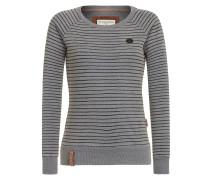 Streifen Sweater grau / schwarz