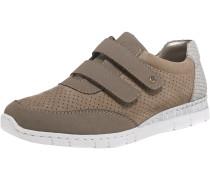 Sneakers dunkelbeige / grau / weiß