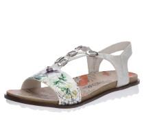 Sandalen gelb / grün / weiß