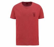T-Shirt 'Overdye Hand' rostrot
