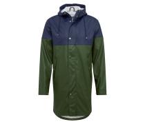 Regenjacke 'Long rain jacket with chest print /Vegan'
