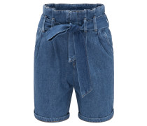 Hose ' Paperbag Short ' blue denim