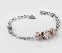 Armband 'Love Knot' rosegold / silber