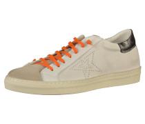 Sneaker beige / orange