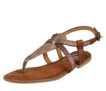 Sandale mit Glitzer bronze