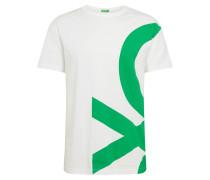 T-Shirt grün / weiß