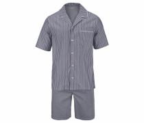 Web Pyjama kurz Shorty mit Streifen