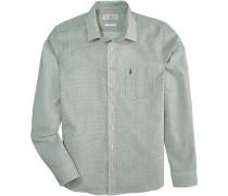 Trachtenhemd mit edlem Muster grün