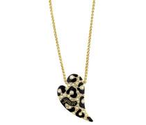 Halskette 'ubn70201' gold / schwarz