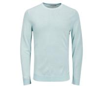 Merinowoll-Pullover hellblau